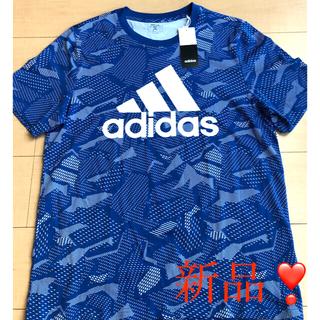 adidas - 【新品】adidas Tシャツ❣️アディダス シャツ ブルー Lサイズ❣️