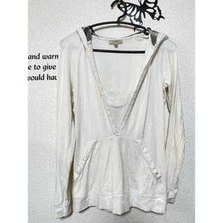 バーバリー(BURBERRY)のBURBERRY バーバリー パーカー カットソー 白 メンズ S(Tシャツ/カットソー(七分/長袖))