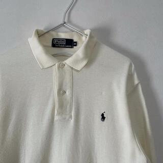 ラルフローレン(Ralph Lauren)の古着 90s POLO Ralph Lauren 長袖ポロシャツ オフホワイト(ポロシャツ)