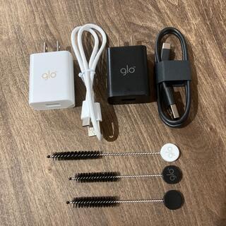 グロー(glo)のglo 充電器 掃除ブラシセット(タバコグッズ)
