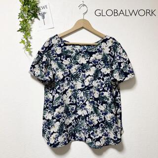 GLOBAL WORK - GLOBALWORK 花柄トップス