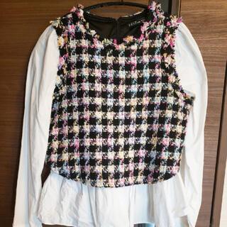 ZARA - ツイードシャツ
