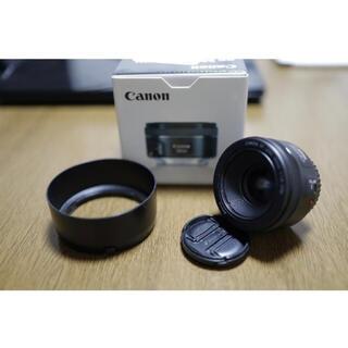 Canon - Canon キヤノン  EF50mm F1.8 STM 新品同様 フード付!