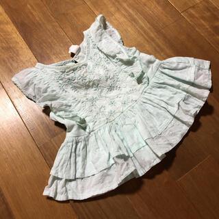ベビーギャップ(babyGAP)の着画あり♡ベビーギャップ♡刺繍フリルレースブラウス80.90(Tシャツ/カットソー)