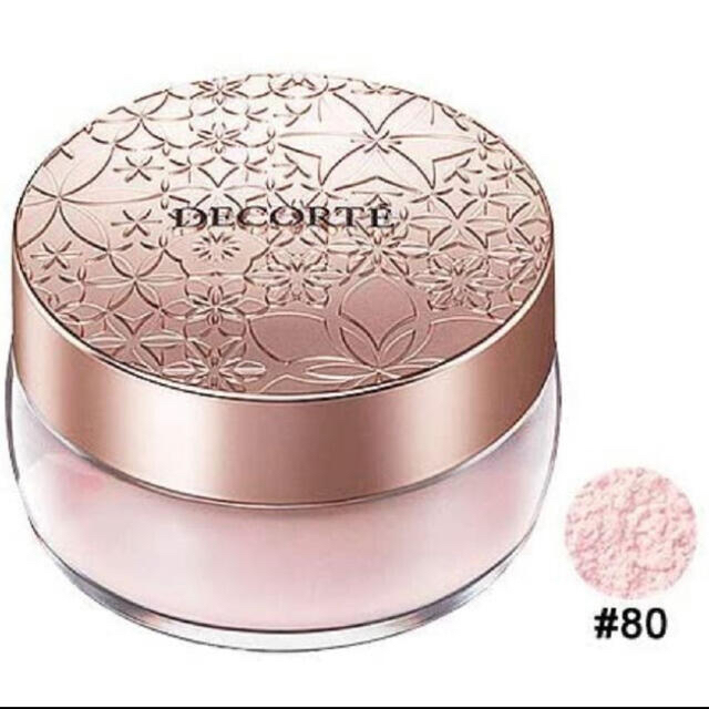 COSME DECORTE(コスメデコルテ)のコスメデコルテ フェイスパウダー 80 glow pink ほぼ全量 コスメ/美容のベースメイク/化粧品(フェイスパウダー)の商品写真