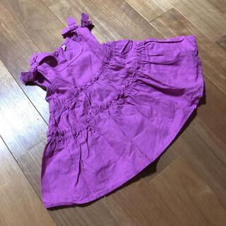 肩リボンティアードブラウスチュニック90(Tシャツ/カットソー)