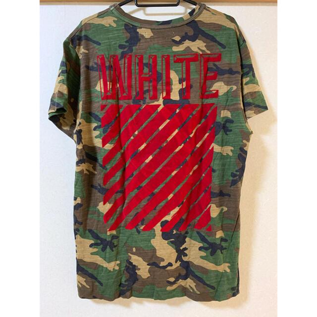 OFF-WHITE(オフホワイト)のoff-white オフホワイト Tシャツ 迷彩 レッド 赤 メンズのトップス(Tシャツ/カットソー(半袖/袖なし))の商品写真