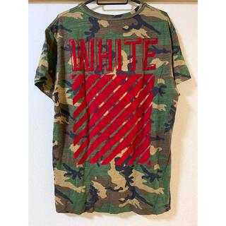OFF-WHITE - off-white オフホワイト Tシャツ 迷彩 レッド 赤
