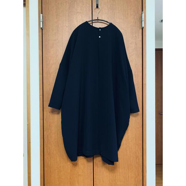 nest Robe(ネストローブ)の【値下げ】 ミズイロインド    クルーネック ワイド ワンピース ネイビー レディースのワンピース(ひざ丈ワンピース)の商品写真