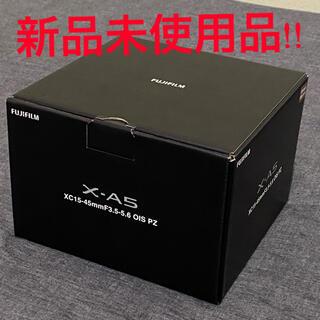 富士フイルム - 新品未使用! ミラーレス一眼カメラ X-A5レンズキット X-A5LK-BW
