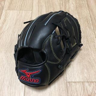 ミズノ(MIZUNO)の少年軟式野球用グローブ  オールラウンド用  Mサイズ  ブラック(グローブ)