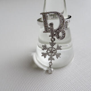 Dior - 美品✨ レアデザイン 雪の結晶 Dior ディオール シルバー ロゴ リング