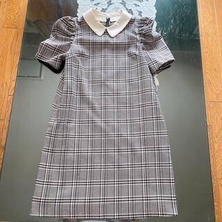 レディアゼル(REDYAZEL)のレディアゼル REDYAZEL 襟付きチェックワンピース S(ひざ丈ワンピース)