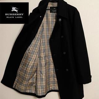 バーバリーブラックレーベル(BURBERRY BLACK LABEL)のBURBERRY BLACKLABEL カシミヤ ノバチェック ウールコート(ステンカラーコート)