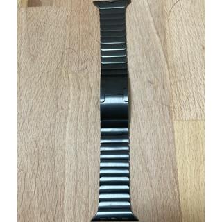 アップル(Apple)の純正美品 apple watch 40mm リンクブレスレット スペースブラック(金属ベルト)