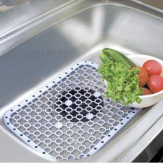 送料無料 水はねを抑える 流し用 すのこ スノコ シンク マット 緑グリーン(その他)