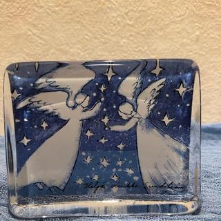 イッタラ(iittala)のヘルヤ ☆ガラスカード(二人の天使 / 星空) イッタラ (置物)
