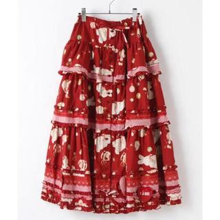 PINK HOUSE - ピンクハウス うさぎラビット柄 超豪華スカート 未使用