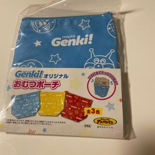 アンパンマン(アンパンマン)のgenki おむつポーチ 消臭 新品未使用(ベビーおむつバッグ)