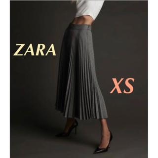 ZARA - ZARA チェック柄プリーツスカート