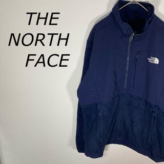 ザノースフェイス(THE NORTH FACE)のTHE NORTH FACE フリースジャケット ネイビー レディースLサイズ(ブルゾン)