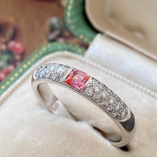 天然バイカラーサファイア 天然ダイヤモンド プラチナリング ソーティング付き