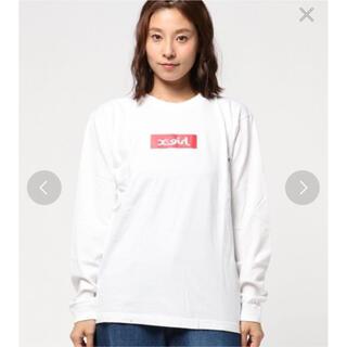 エックスガール(X-girl)のX-GIRL エックスガール ボックスロゴ Tシャツ ロンT トップス(Tシャツ(長袖/七分))