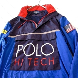ポロラルフローレン(POLO RALPH LAUREN)のPOLO HI TECH ポロハイテック ジャケット  ラルフローレン Lサイズ(ナイロンジャケット)