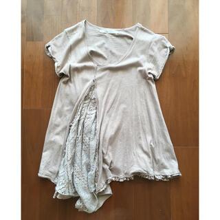 ネストローブ(nest Robe)の++mudoca ムドカ++オーガニックコットン アシンメトリーTシャツ(Tシャツ(半袖/袖なし))