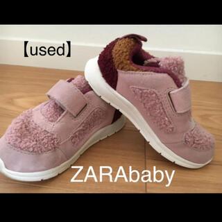 ザラキッズ(ZARA KIDS)の【used】zara baby ボアスニーカー【15.0】ザラベビー(スニーカー)