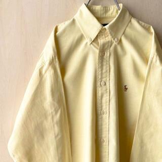 Ralph Lauren - ラルフローレン BDシャツ 長袖 古着 ワンポイント 刺繍ロゴ (IRL089)