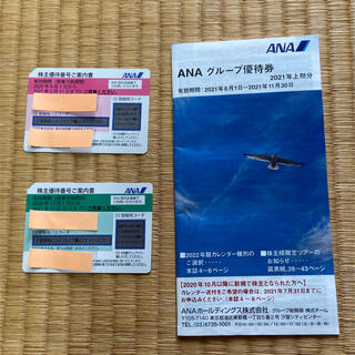 ANA株主優待券2枚+グループ優待券(その他)