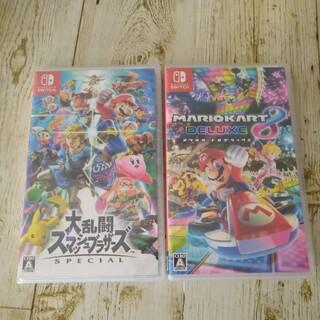Nintendo Switch - 新品未使用☆大乱闘スマッシュブラザーズ マリオカート8 2点セット