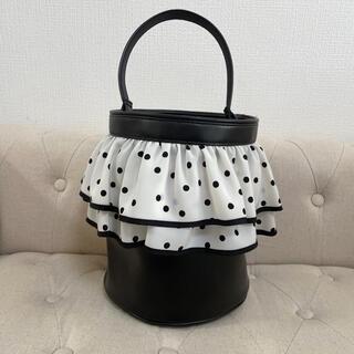 セツコサジテール ピクニック(白フリル×黒ドット)