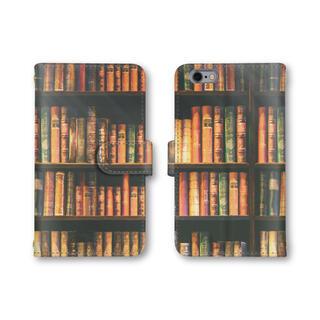 本棚 スマホケース 手帳型 スマホカバー ほぼ全機種対応 iPhone12(スマホケース)