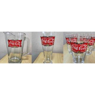 コカコーラ(コカ・コーラ)の《未使用品》コカコーラ ピッチャー&グラス(食器)