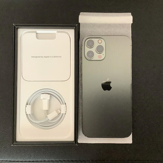 Apple - 新品同等 iphone12 pro max 128GB グラファイトsimフリー