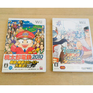 Wii - 任天堂 Wiiソフト2個 桃太郎電鉄2010  タツノコVSカプコン