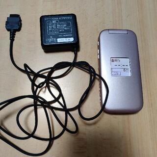 エヌティティドコモ(NTTdocomo)のdocomo らくらくホン  f-08c ピンク(携帯電話本体)