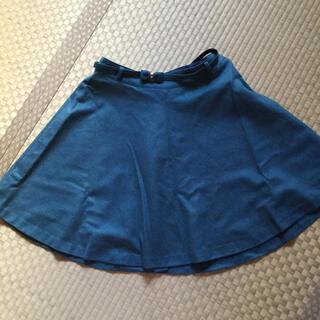 プーラフリーム(pour la frime)のエメラルドグリーン    フレアースカート(ひざ丈スカート)