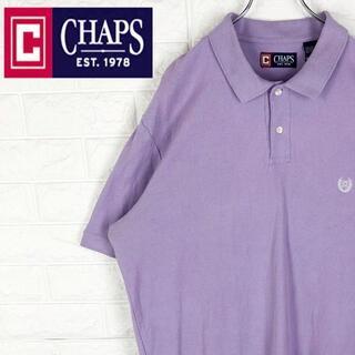 ラルフローレン(Ralph Lauren)のチャップス 半袖ポロシャツ 鹿の子 刺繍ワンポイント胸ロゴ 超ビッグシルエット(ポロシャツ)