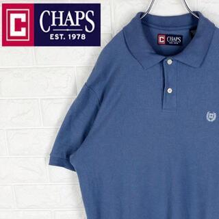 ラルフローレン(Ralph Lauren)のチャップス 半袖ポロシャツ 刺繍ワンポイントロゴ ゆるだぼ くすみカラー 鹿の子(ポロシャツ)
