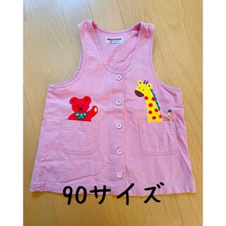ミキハウス(mikihouse)のミキハウス ジャンパースカート ピンク 90サイズ(スカート)