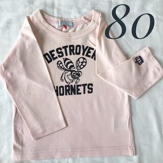 ベビードール(BABYDOLL)のあや様専用☆baby doll 長袖 ロンT 80cm ピンク ハチさん柄(Tシャツ)