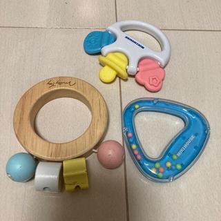 ミキハウス(mikihouse)の赤ちゃんおもちゃ 3点セット(がらがら/ラトル)