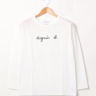 アニエスベー 長袖Tシャツ ロゴ サイズT1 ロンT ホワイト 白