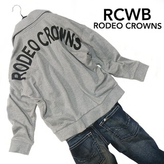 ロデオクラウンズワイドボウル(RODEO CROWNS WIDE BOWL)のRCWB ロデオクラウンズ バックデカロゴ スウェット ライダース ブルゾン M(ブルゾン)