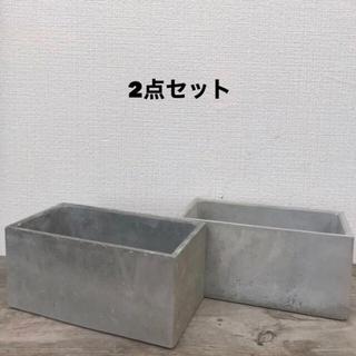 オシャレセメント鉢2点セット(プランター)