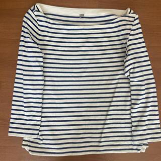ユニクロ(UNIQLO)のユニクロ 七分袖 ボーダーシャツ(Tシャツ(長袖/七分))