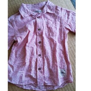 120 Cherokee 半袖 ボタンシャツ ピンク(ブラウス)